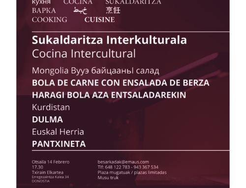 TOPAGUNE COCINA INTERCULTURAL. FEBRERO